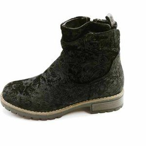 Muk Luks Womens Ankle Boots Black Floral 7